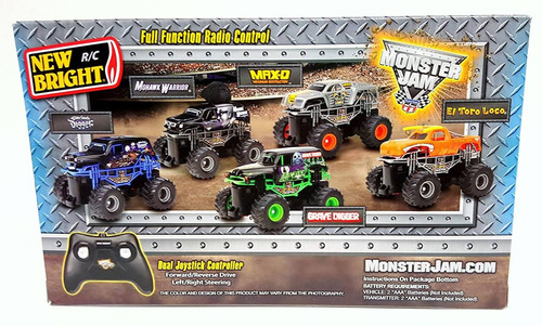 monster jam auto radio control r/c doble canal + rampa 360°