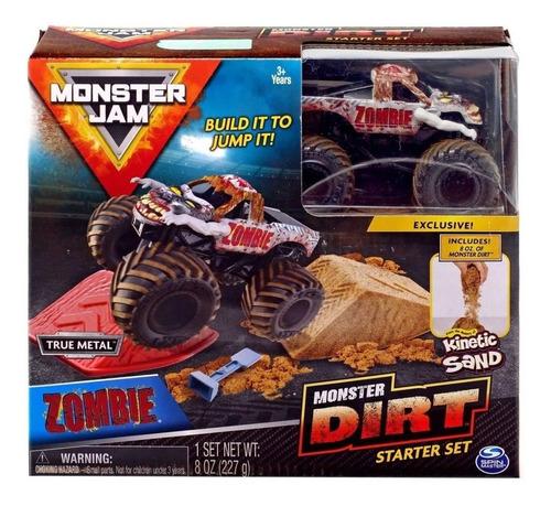 monster jam monster dirt con arena kinetica zombie