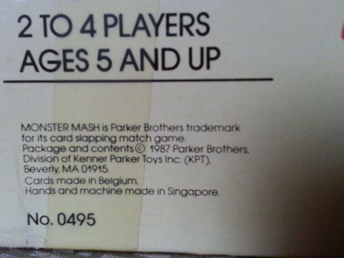 monster mash wacky thwacky cartas pegajoso juego juguete kzr
