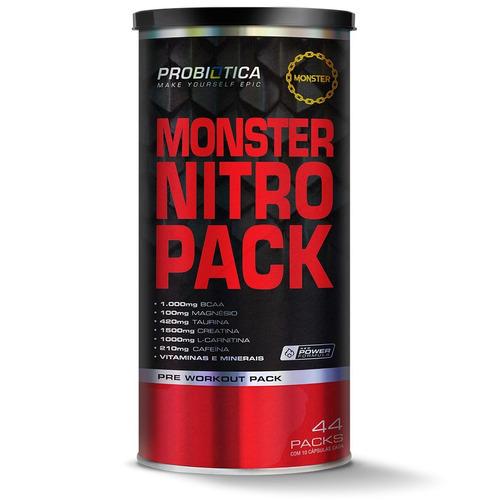 monster nitro 44 packs - probiótica [nova formula + forte]