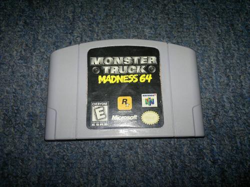 monster truck madness 64 para nintendo 64,excelente titulo.