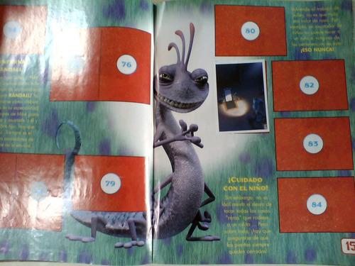 monsters inc albun de estampas panini usado stickers albun