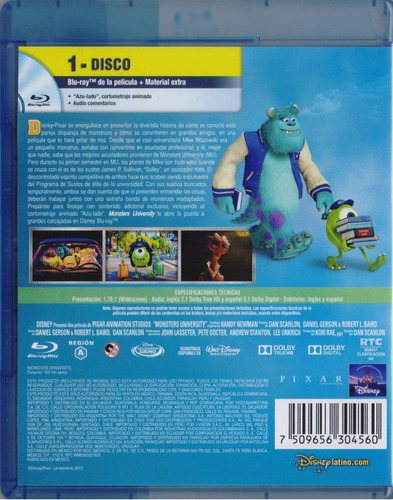monsters university disney pixar pelicula blu-ray