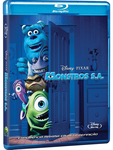 monstros s.a. - blu-ray duplo - john goodman - billy crystal