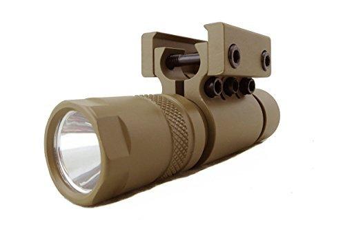 monstrum tactical 90 lumens led linterna con montaje en rie