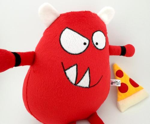 monstruo rojo niño peluche decoración cumpleaños guyuminos