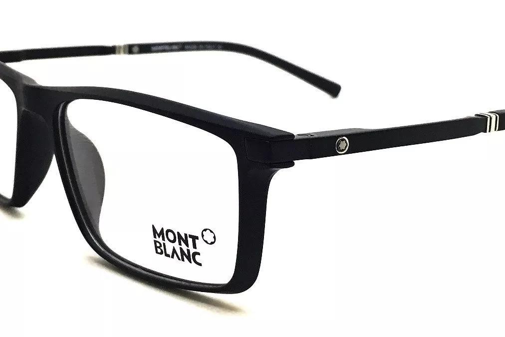 Carregando zoom... armação óculos grau original mont blanc mb82 acetato leve 4a061592bc