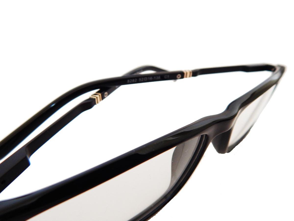 627080f1f6077 Carregando zoom... armação p  óculos de grau masculino mont blanc 8282  clássico