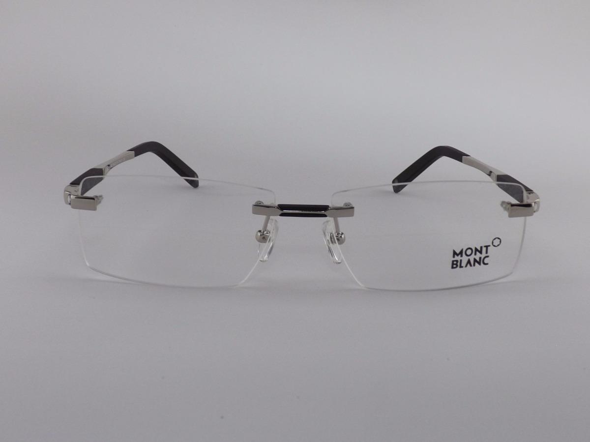 0a59f7fd827f2 Armação Óculos Grau De Grau Sem Aro Mont Blanc Varias Cores - R  195 ...