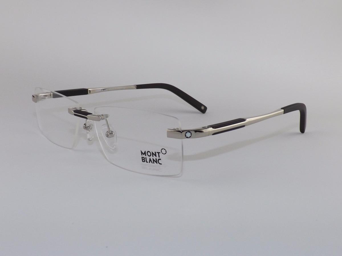 f2d4985e1937c Carregando zoom... armação óculos grau de grau sem aro mont blanc varias  cores