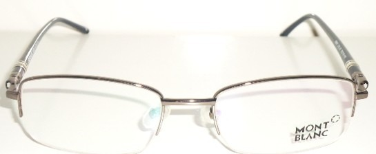 bded7ddfce327 armação óculos grau mont blanc mb89 cinza e preto meio aro · armação óculos  mont blanc · mont blanc armação óculos