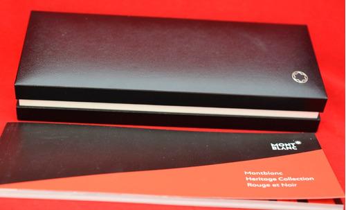 mont blanc rouge et noir estilografica nueva sin uso #864