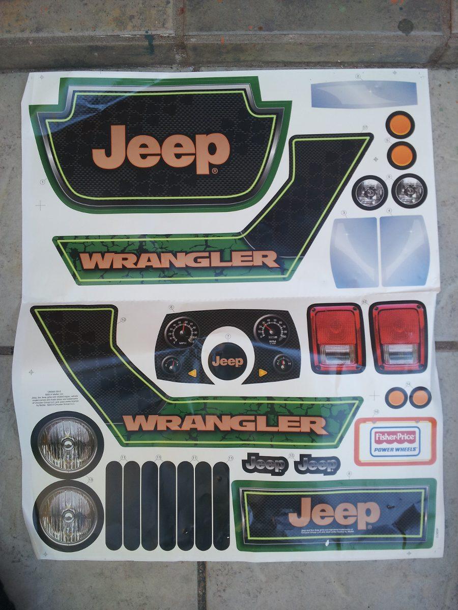 Jeep Wrangler Wheels >> Montable Electrico Jeep Wrangler De Lujo Calcomanias ...