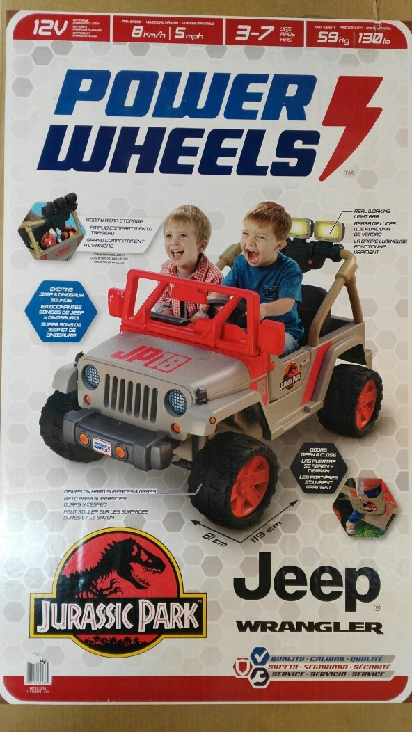 Montable Electrico Jeep Wrangler Jurassic Park Power Wheels