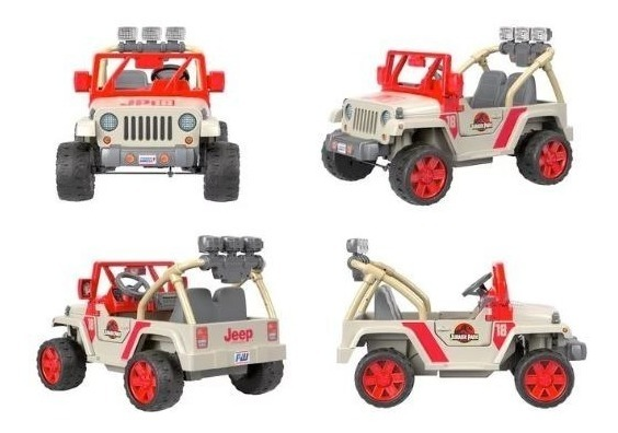 Montable Electrico Power Wheels Jurassic World Jeep Wrangler