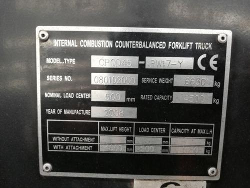 montacarga andino 4.5 toneladas