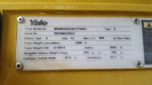 montacarga apilador electrico yale cargador incluido 110v