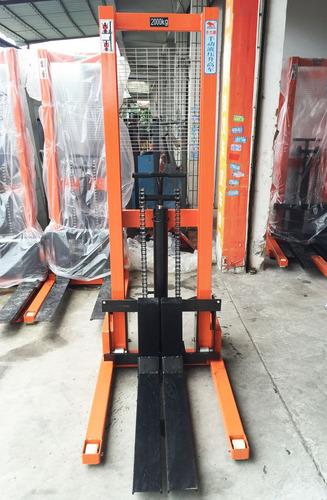 montacargas apilador elevadores hidraulicos manuales 2000 kg