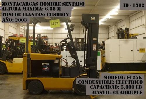 montacargas caterpillar 5000 lb electrico modelo ec25k 2003