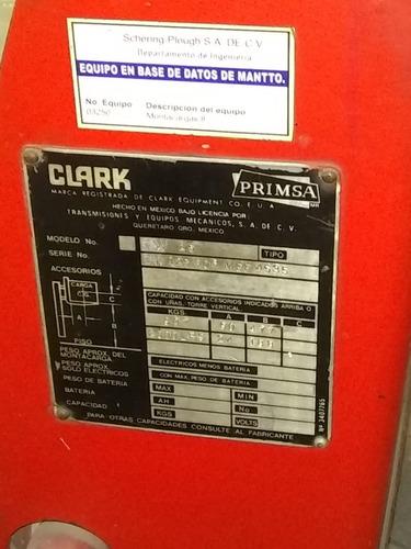 montacargas clark tw25