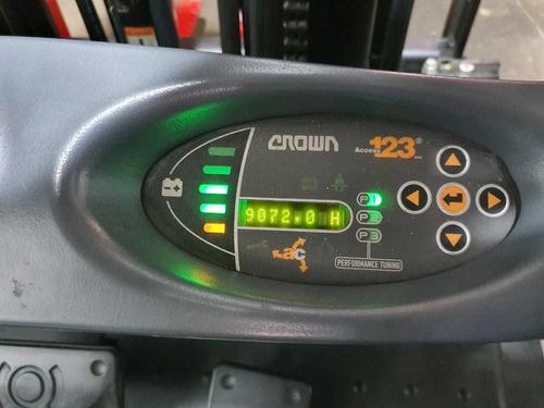 montacargas eléctrica contrabalanceada crown 4200