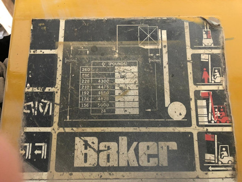 montacargas electrico baker c-50 ce 2.5 ton de capacidad