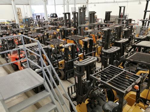 montacargas eléctrico nuevo 3 ruedas espacio reducido.