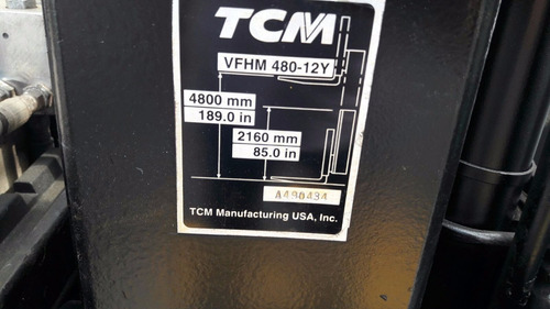 montacargas electrico tcm , con clamp, 5,000 libras
