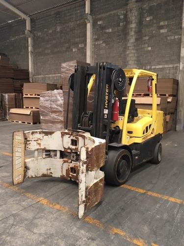 montacargas hyster 13,500 lbs con clamp para rollos año 2012