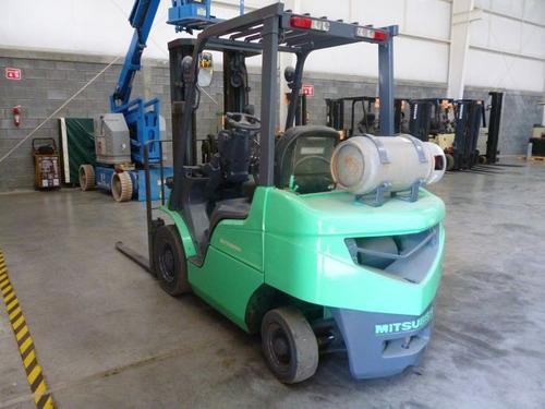 montacargas mitsubishi 2004 gas lp 5000 lb modelo fg25n