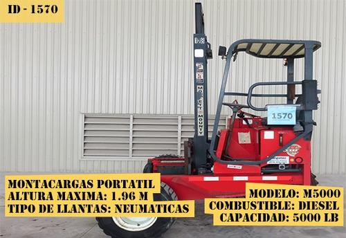 montacargas portátil moffett 5000 lb diesel  m5000
