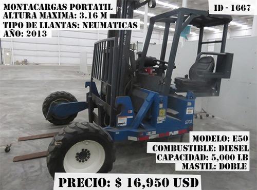 montacargas portatil princeton  5,000 lb diesel e50