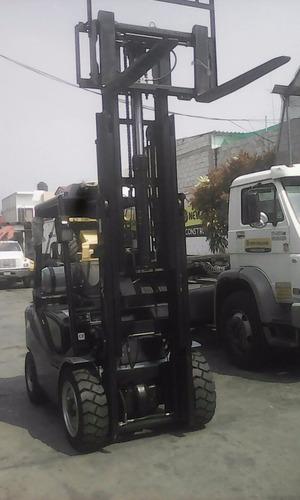 montacargas royal 3 toneladas triplex nuevo renta o venta