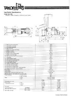montacargas taylor tls1000 2008 importado