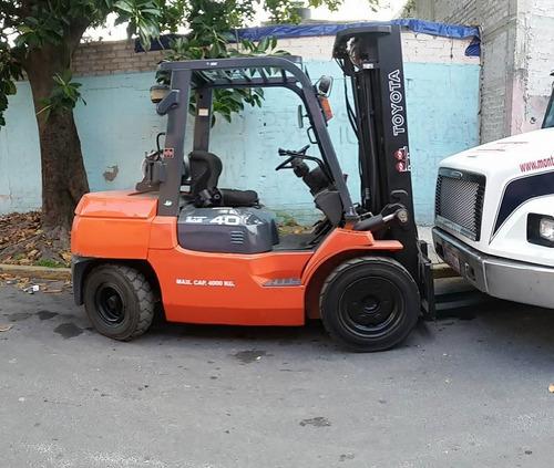montacargas toyota 2012 4 toneladas
