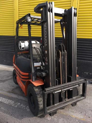 montacargas toyota 25 serie 6 modelo 2012