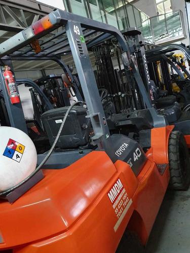 montacargas toyota  4 ton 2012 $355,000 garantizado
