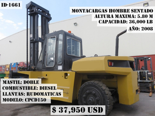 montacargas yale  2006 gas lp 15500 lb mod glp155cangbv147