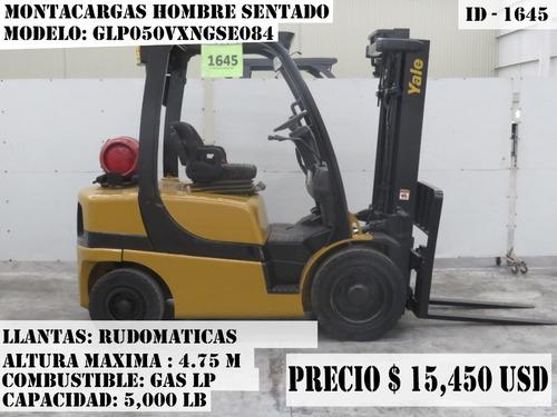 montacargas yale 5000 lb gas lp 2011 glp050vxngse084