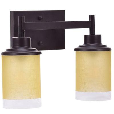 montado en la pared de luz de vanidad 2 luz baño tocador