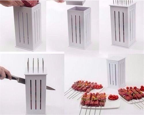 montador de espetinho 16 espetos churrasco pratica oferta