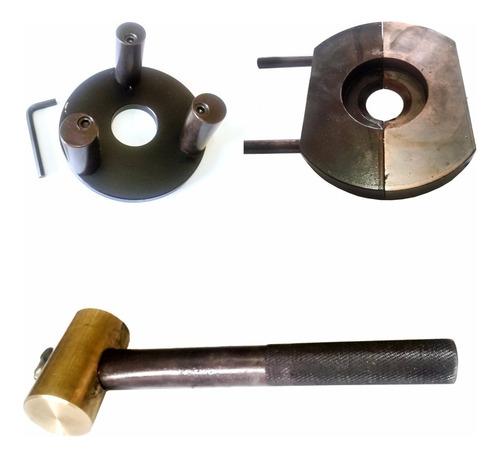 montador /extrator rolamento/martelo bronze e pino meia lua