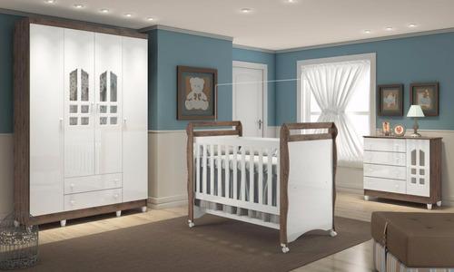 montagem quarto de bebê selena com berço-cômoda-guarda-roupa