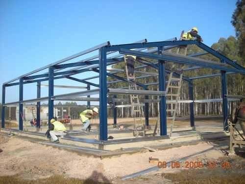 Montaje de estructura met licas para viviendas bs 2 00 - Estructura metalicas para casas ...