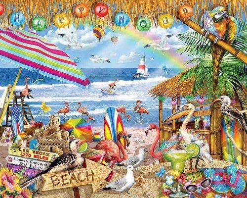 montaña blanca rompecabezas puzzle happy hour - 1000 piece