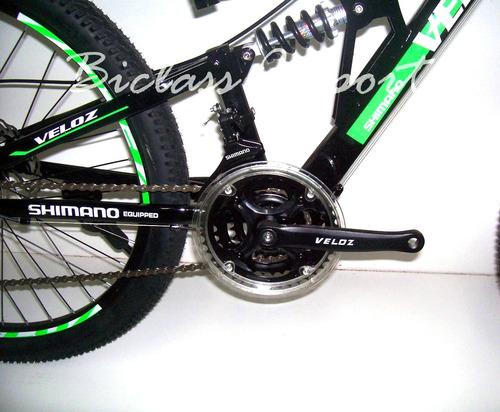 montañera 24 doble amortiguador shimano 21 v  freno de disco