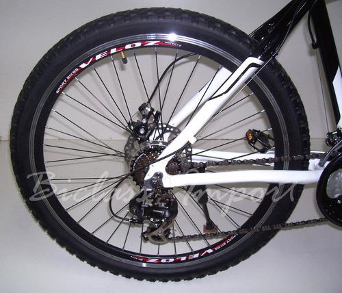 montañera todo aluminio cambios shimano frenos de disco