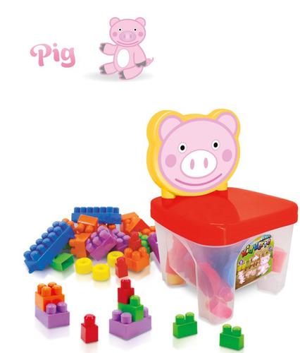 montar brinquedo bloco
