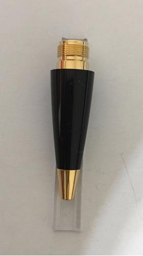 montblanc  boheme esferográfica ponteira preta / dourada