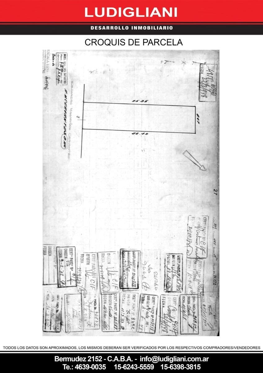 monte castro lote 8.66 x 36.26 superficie max construir 620